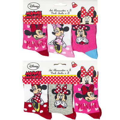 Furry Minion 2 Pair Socks Multi Style Girls Despicable Me Pink Polka Hearts