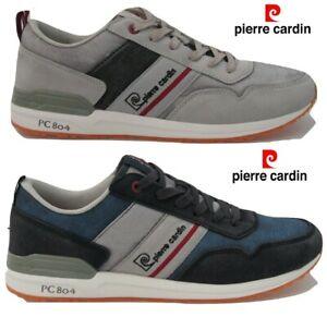 foto ufficiali 94ff1 7afe8 Dettagli su Scarpe da uomo PIERRE CARDIN sneakers eco pelle estive camoscio  casual PC 804