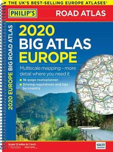 Philip-039-s-Big-Road-Atlas-Europe-Spiral-A3-A3-Spiral-binding-by-Philip-039-s-Maps