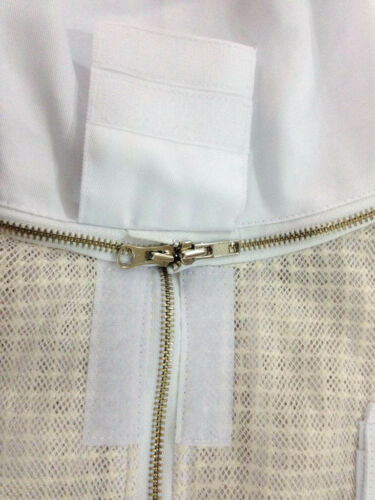Protecting veil 3 layer beekeeping ventilated jacket brass zipper round veil L