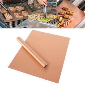 2xDauer-BBQ-Grillmatte-Glasfaser-f-Grillunterlage-Backofenfolie-Grillfolie-40x60