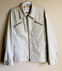Vintage London Fog Harrington Jacket Coat Men S Medium 42r Tan Ebay