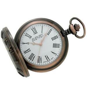 August-Steiner-CN003C-Walking-Liberty-Half-Dollar-Antique-Copper-Pocket-Watch