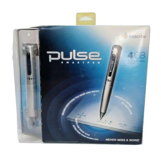 Livescribe Pulse Smartpen 4 GB Mac & Windows Compatible Audio Smart Pen