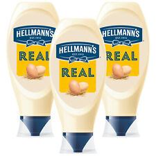 Hellmann's Real Squeezy mayonnaise, 3 Packs of 750ml