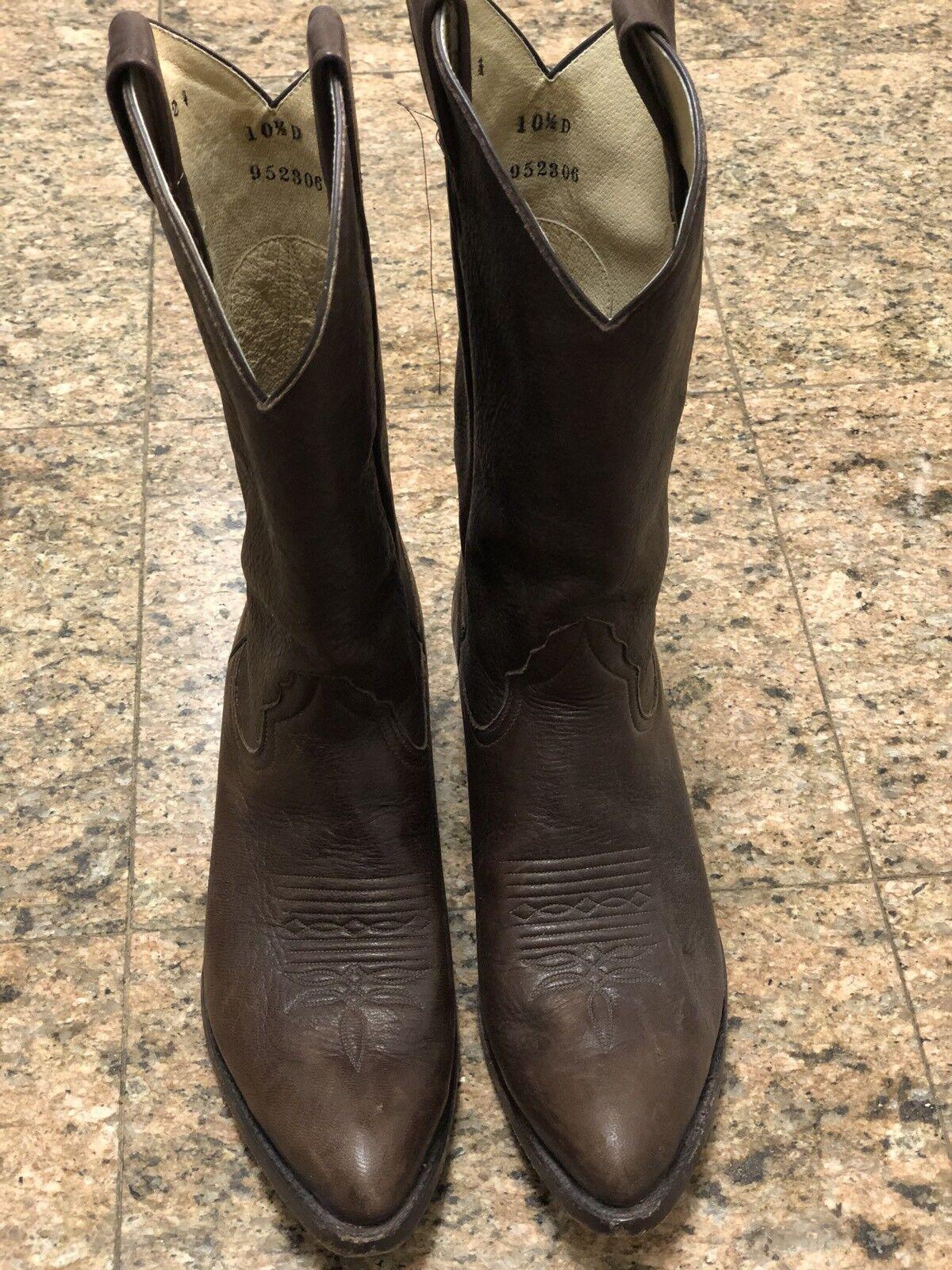 Vintage Cuero Marrón botas occidental
