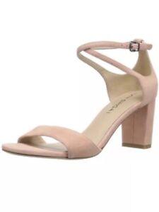2e5cc196e13 Women s Via Spiga Wendi Salmon Pink Suede Block Heel Ankle Strap ...
