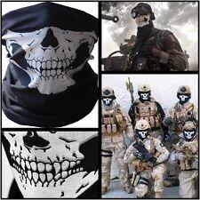 Skeleton Skull Face Mask Bandana harley davidson Rider Softail Dyna Toruing