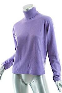 BALLANTYNE Lavender 100% Cashmere Turtleneck Sweater-WONDERFUL- 5 ...