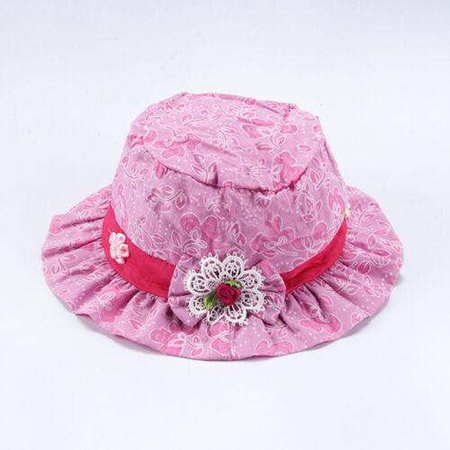 Boy Girls Toddler Bowknot Cotton Hat Children Cap Bonnet Sun Hat Hats Lace Style