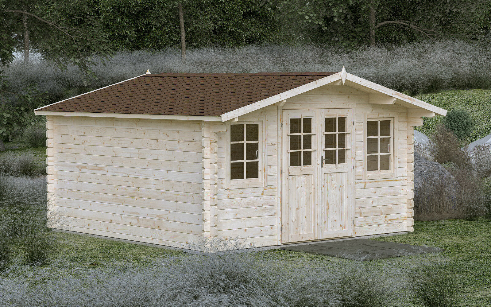 44 mm gartenhaus gera inklusive montage ca 4x4 m aufbau gerätehaus
