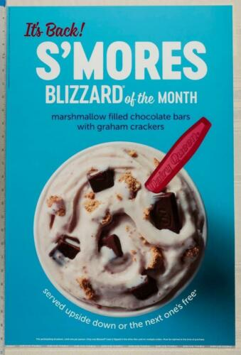 Dairy Queen Poster Backlit Plastic S/'Mores Blizzard 17x25 dq2
