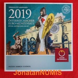 AUSTRIA-2019-KMS-8-VALORES-1-CENT-A-2-EUROS-CARTERA-OFICIAL