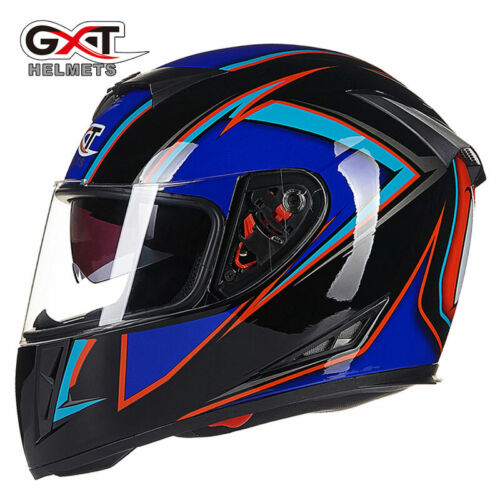 GXT Motorcycle Full Helmets Visor Anti-fog Casco Motorbike Safety DOT Headgear