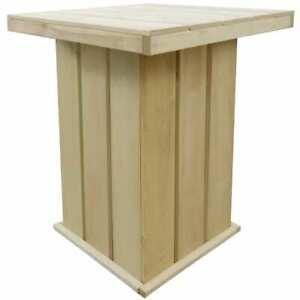 Détails sur vidaXL Table de Bar d\'Extérieur FSC Table Haute Bistro Jardin  Terrasse Patio