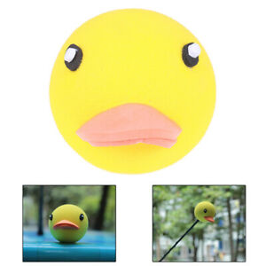 1Pc-Cute-yellow-duck-car-antenna-pen-topper-aerial-eva-ball-decor-toy-orname-uh