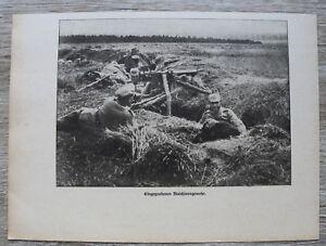 Blatt-1914-25-Eingegrabenes-Deutsches-Maschinengewehr-MG-Soldaten-Trupp-1-WK-WW