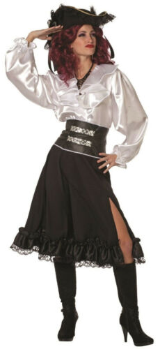 Rock Camicia PIRATA Cowgirl ragazza spagnola flamenco Cowboy Da Donna Costume Hippie discoteca