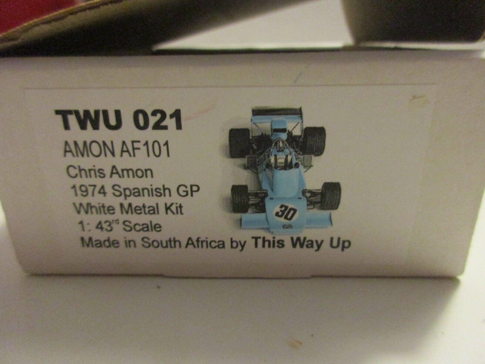 TWU THIS WAY UP 1 43 AMON AF 101 SPANISH GP 1974 CHRIS AMON  TWU021