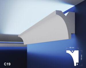 10m Led Stuckleisten Lichtvoutenprofil Indirekte Deckenbeleuchtung Xps Ebay