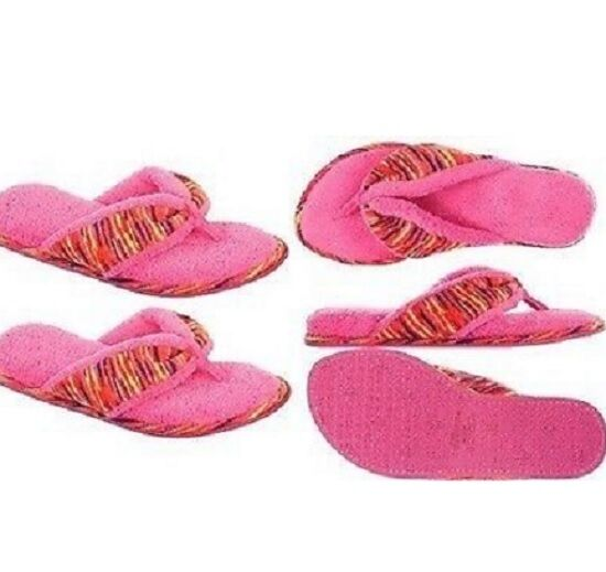 DEARFOAM'S WOMEN'S OPEN TOE SCUFF SLIPPERS SIZE SIZE SMALL NEW WITH TAGS