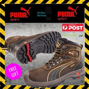 Puma Work Boots. 630227  Sierra Nevada Brown Composite Toe Safety ... 3652a9250