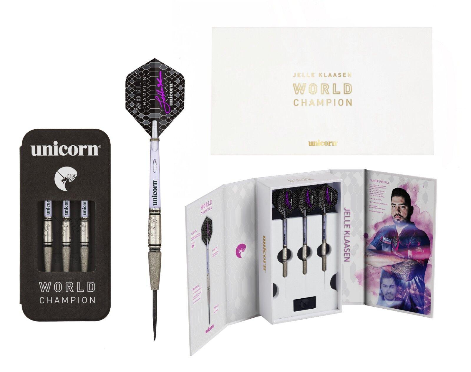 Unicorn Jelle Klaasen World Champion 97% Tungsten Darts - Collectors Box