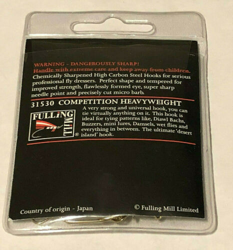 2 Sizes Available 50 Fulling Mill 31530 Competition Heavyweight Fly Hook