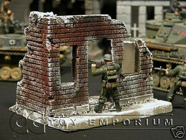 RETIRED  Build-a-Rama 1 32 Hand Painted WWII City Building Winter.