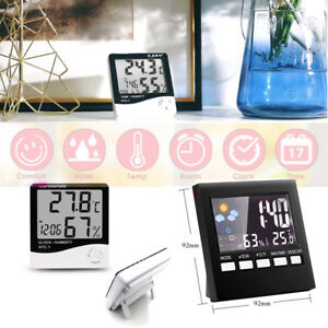 Digital Weather Forecast Alarm Clock Thermometer Calendar Display LCD