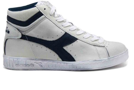Diadora Game L High Waxed Men's shoes Woman White bluee C5262 Caspian Sea