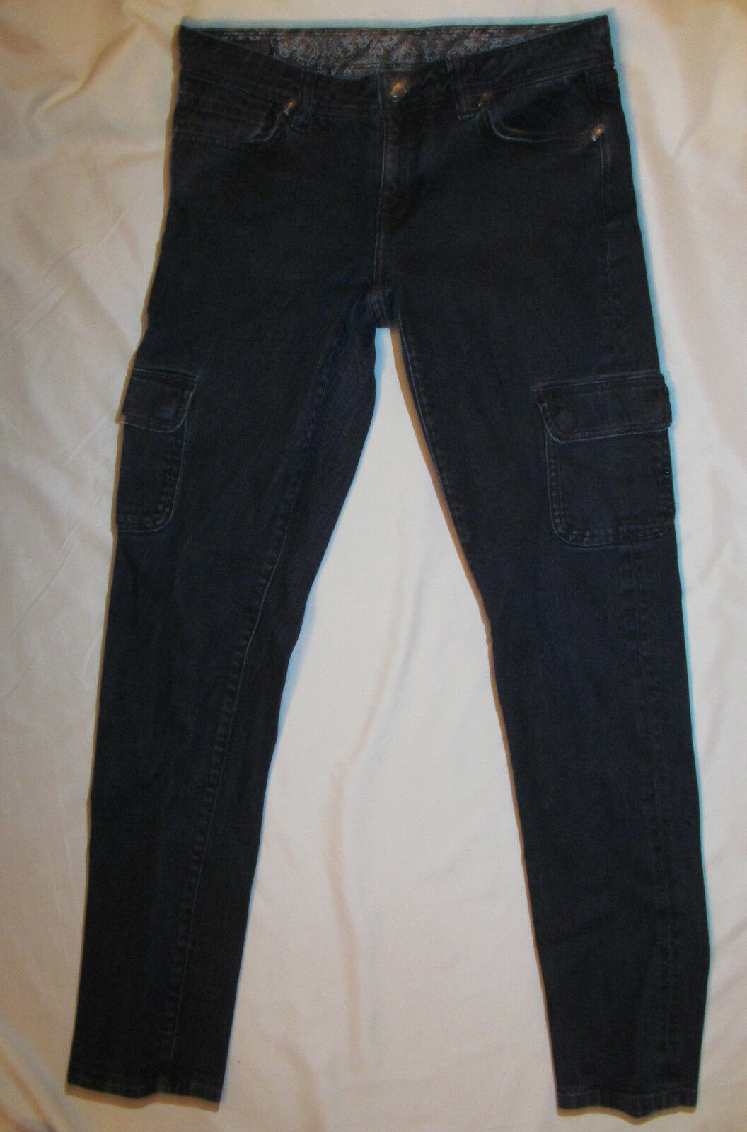PATAGONIA ORGANIC COTTON dark wash skinny cargo stretchy jeans 28