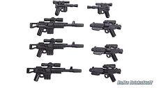 BrickArms Star Wars™ Waffen Blaster E-11 A295 DL44 Set, Custom für LEGO® Figuren