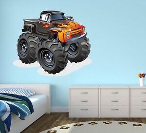 Ordinaire Image Is Loading Monster Truck Wall Decal Kids Bedroom Art Playroom