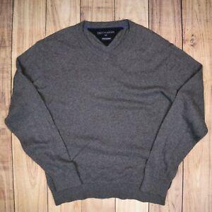 Mens-Vintage-Tommy-Hilfiger-Grey-Cotton-Cashmere-Sweater-Size-L