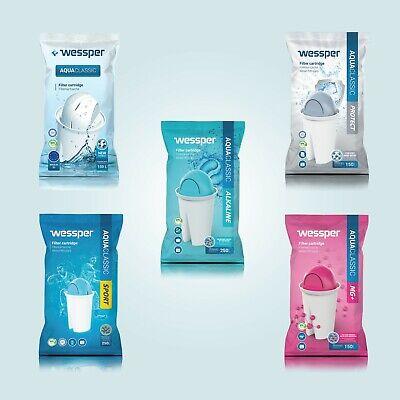 3x ALKALINE Filterkartuschen für Brita Classic von Wessper® Wasserfilter