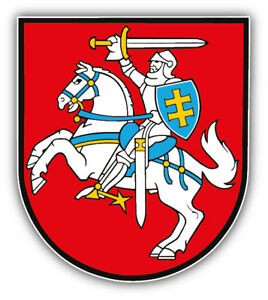 Sticker coat of arms flag car vinyl decal outdoor bumper shield lithuania