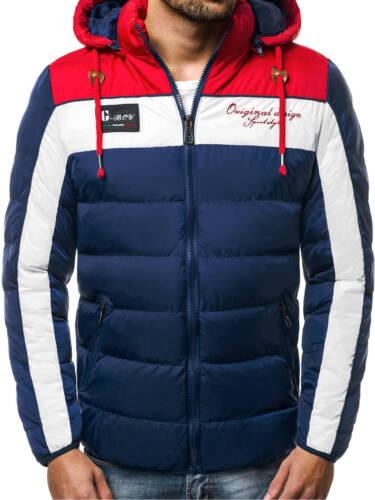 Winterjacke Sport Steppjacke Wärmejacke Kapuze Herrenjacke OZONEE 7780 MIX