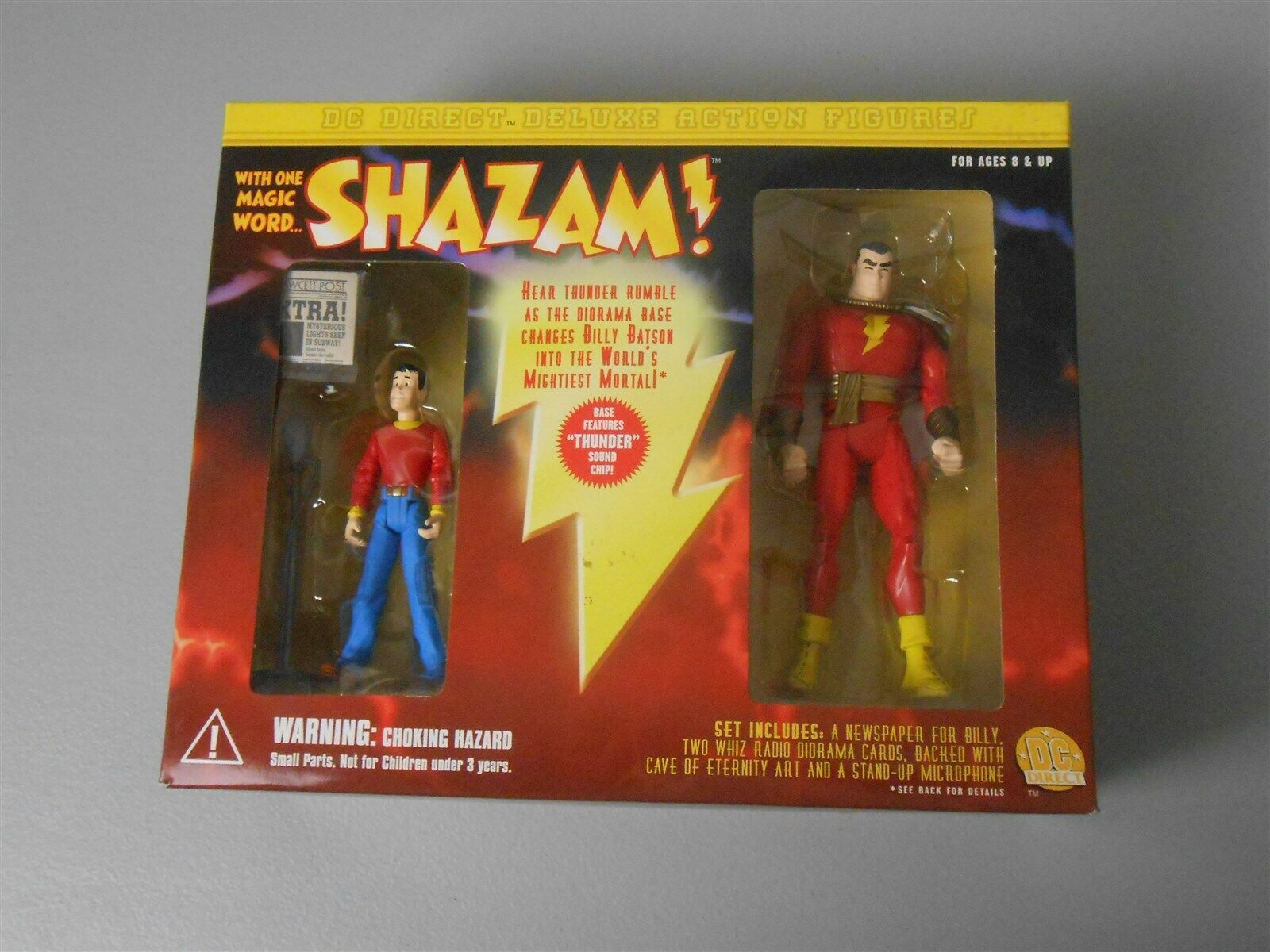 DC diretto Deluxe SHAZAM  Set con il capitano MARVEL e Billy Batson con grossota