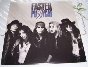 Faster Pussycat -S/T 1987 LP 60730-1 VG+ (Very Clean Vinyl)