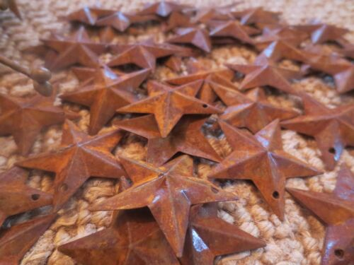 Lot of 50 Rusty Barn Stars 1.5 inch Rustic Primitive Country Rusted Dimensional