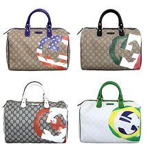 NEW Authentic Gucci Joy Boston Bag,American/Italian/Canadian/Brazil Flag,195451