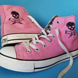 5e21ab4ca68a Converse JACKASS CHUCK TAYLORS Sneakers TV Show Pink SHOES Rare Sz 8 ...