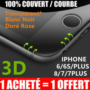 iPhone-8-7-6S-6-VITRE-PROTECTION-VERRE-TREMPE-3D-TRANSPARENT-FILM-ECRAN-INTEGRAL