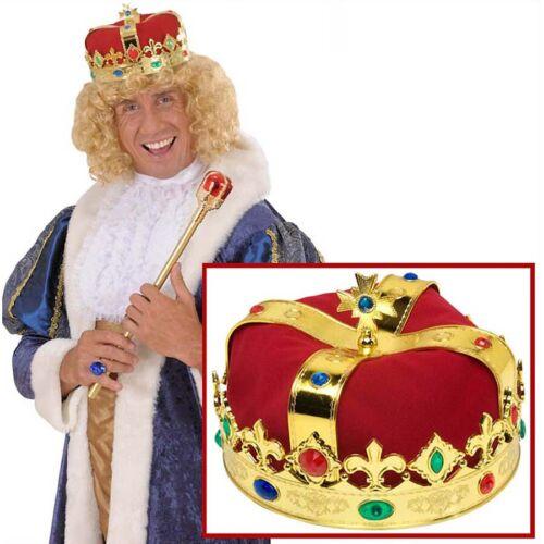 KÖNIG KRONE # Kaiser Prinz Königskrone Mittelalter Herrscher Kostüm Zubehör 3047