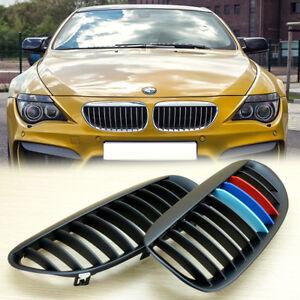 M-Color Shiny Black For BMW E63 E64 LCI M6 Convertible coupe 635 Front Grille UK
