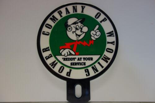 POWER COMPANY OF WYOMING Reddy Kilowatt Plate Topper ELECTRICIAN GIFT