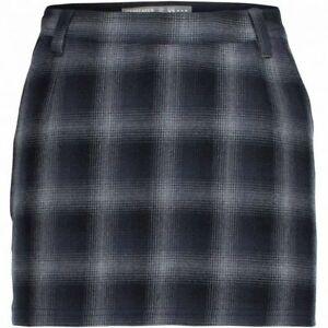 Icebreaker Women Lodge Skirt (29) Plaid Metro Heather