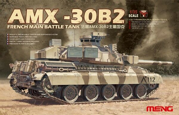 Meng Model 1 35 AMX-30B2 French Main Battle Tank (MBT)