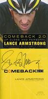 Lance Armstrong Signed Autographed Comeback 2.0 Tour De France Hc 1st Ed/1st